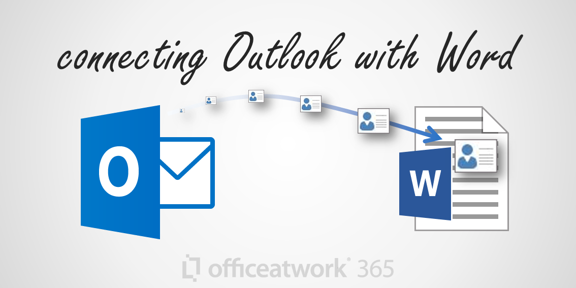 Accessing Outlook Personal Contacts information directly within Word