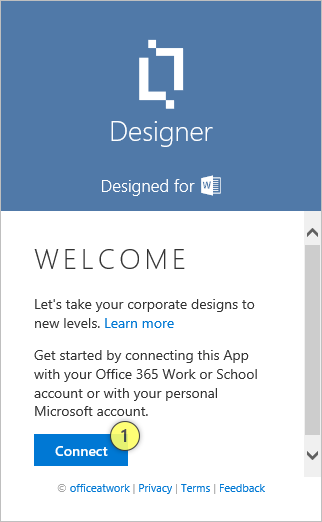 Desinger Welcome Page