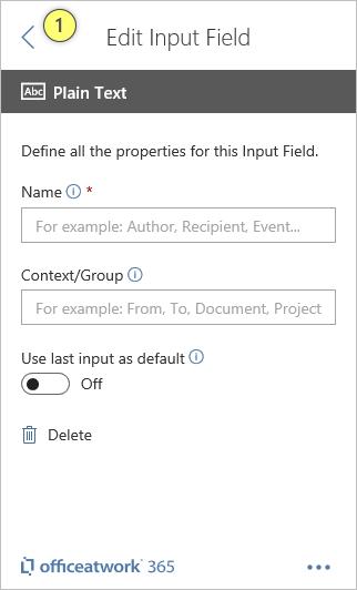 Designer Plain Text Input Field
