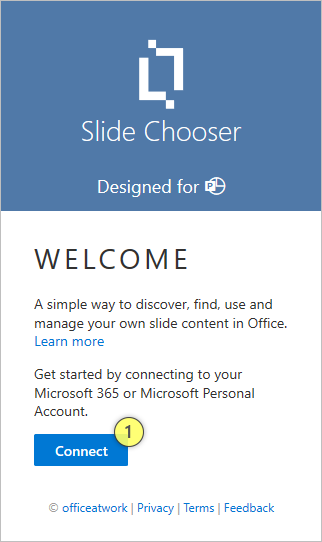 Slide Chooser Welcome Page