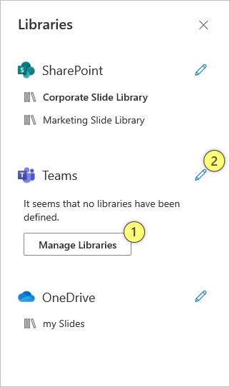 Manage Teams Libraries