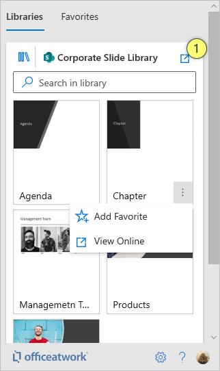 Slide Chooser Manage Slides