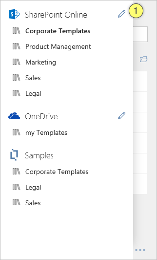 Template Chooser SharePoint Online Edit