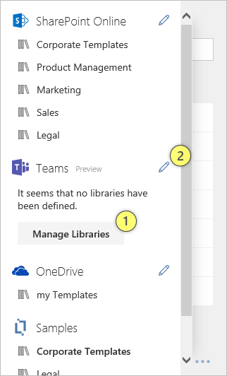 Manage Teams Libraries