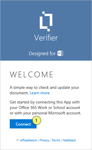 Verifier Welcome Page
