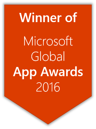 Winner of Microsoft global App Awards 2016
