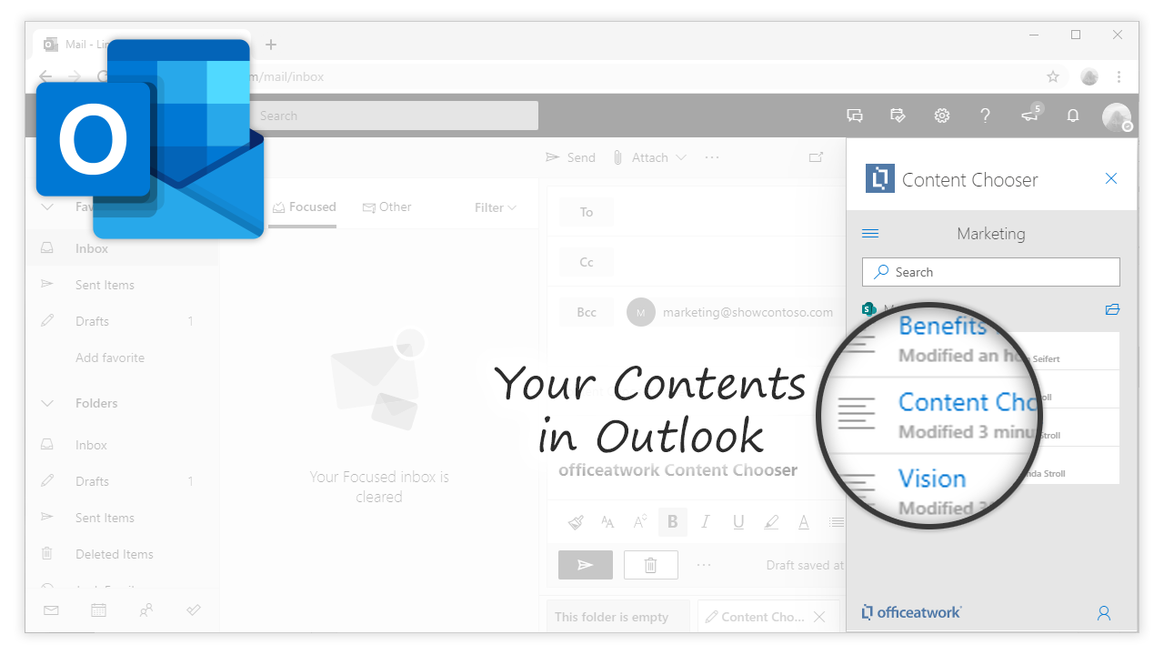 Content Chooser for Outlook, Outlook