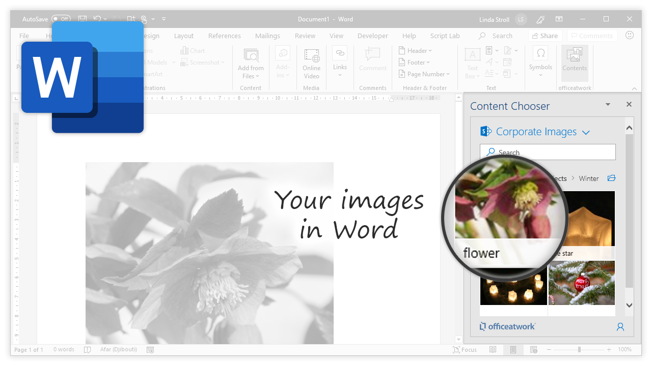Content Chooser for Office, Word