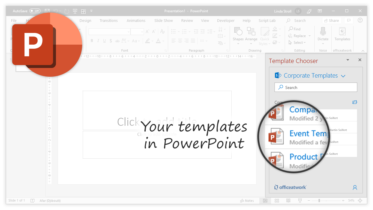 Template Chooser for Office, PowerPoint