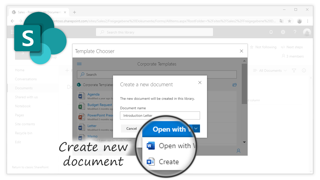 Template Chooser for SharePoint